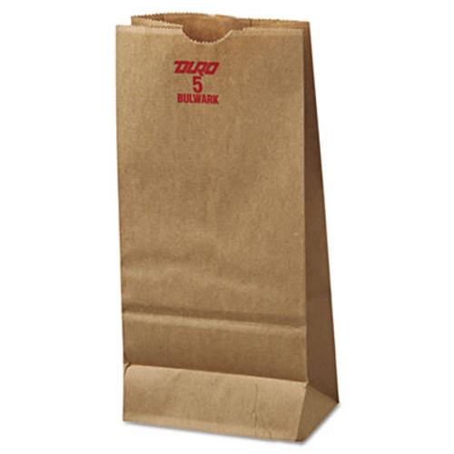 General Grocery Paper Bags  50 lbs Capacity   5  5 25 w x 3 44 d x 10 94 h  Kraft  500 Bags (BAG GX5-500)
