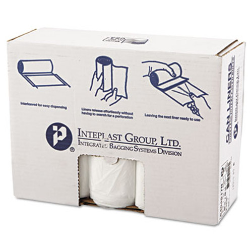 Inteplast Group High-Density Interleaved Commercial Can Liners  45 gal  17 microns  40  x 48   Clear  250 Carton (IBS S404817N)