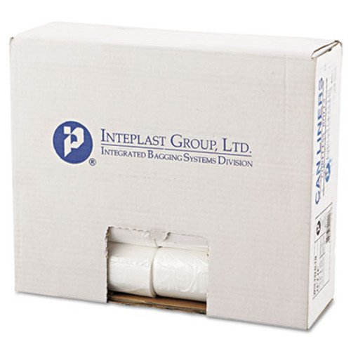 Inteplast Group Low-Density Commercial Can Liners  10 gal  0 35 mil  24  x 24   Clear  1 000 Carton (IBS SL2424LTN)