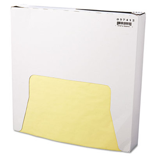 Bagcraft Grease-Resistant Paper Wraps and Liners  12 x 12  Yellow  1000 Box  5 Boxes Carton (BGC 057412)