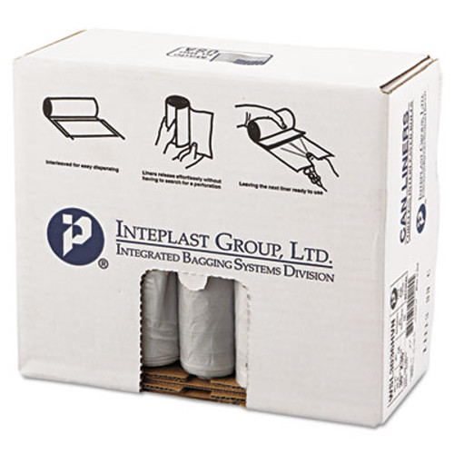 Inteplast Group Low-Density Commercial Can Liners  30 gal  0 58 mil  30  x 36   Clear  250 Carton (IBS SL3036HVN)