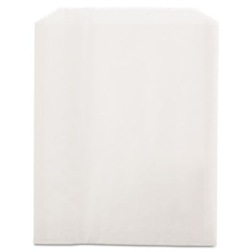 Bagcraft Grease-Resistant Single-Serve Bags  6  x 7 25   White  2 000 Carton (BGC 450019)