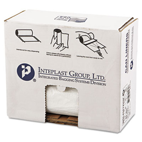 Inteplast Group Low-Density Commercial Can Liners  56 gal  0 8 mil  43  x 47   White  100 Carton (IBS SL4347XHW)