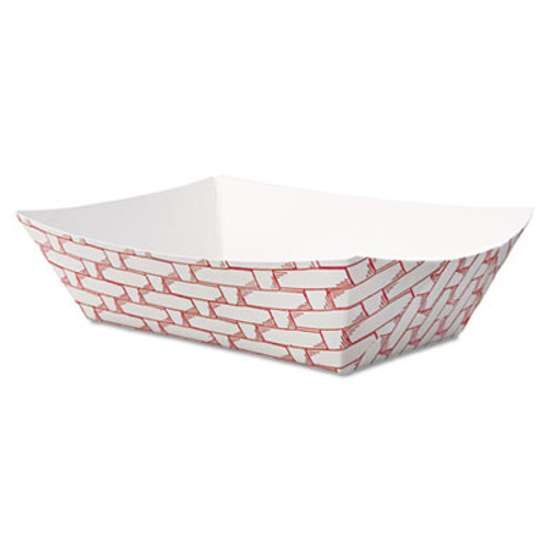 Boardwalk Paper Food Baskets  1 2 lb Capacity  Red White  1000 Carton (BWK 30LAG050)