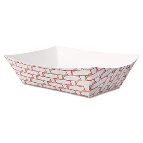 Boardwalk Paper Food Baskets  1 2 lb Capacity  Red White  1000 Carton (BWK 30LAG050)