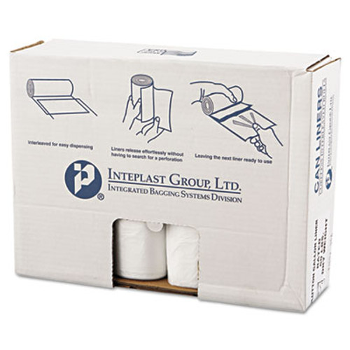 Inteplast Group High-Density Commercial Can Liners Value Pack  60 gal  14 microns  43  x 46   Clear  200 Carton (IBS VALH4348N16)