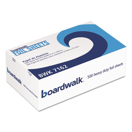 Boardwalk Standard Aluminum Foil Pop-Up Sheets  9  x 10 3 4   500 Box  6 Boxes Carton (BWK 7162)