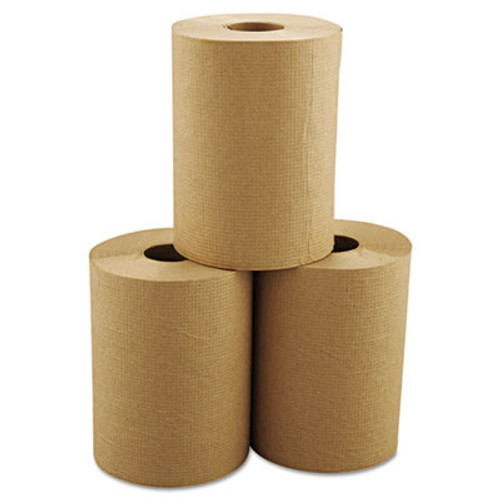Morcon Tissue Morsoft Universal Roll Towels  8  x 350 ft  Brown  12 Rolls Carton (MOR R12350)
