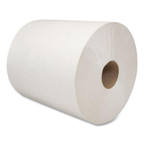 Morcon Tissue Morsoft Universal Roll Towels  8  x 800 ft  White  6 Rolls Carton (MOR W6800)