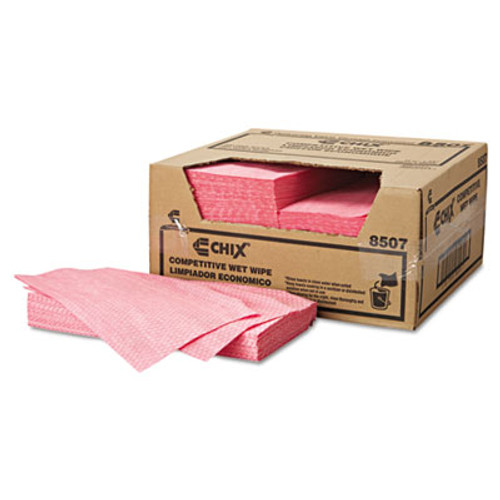 Chix Wet Wipes  11 1 2 x 24  White Pink  200 Carton (CHI 8507)