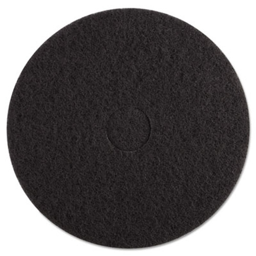 Boardwalk Stripping Floor Pads  17  Diameter  Black  5 Carton (PAD 4017 BLA)