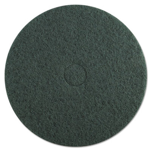 "Boardwalk Standard Floor Pads, 20"" dia, Green, 5/Carton (PAD 4020 GRE)"