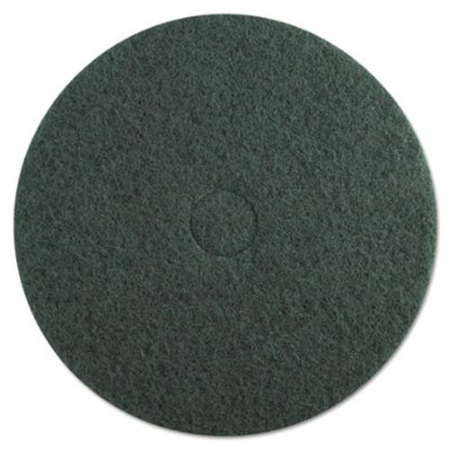 Boardwalk Heavy-Duty Scrubbing Floor Pads  20  Diameter  Green  5 Carton (PAD 4020 GRE)