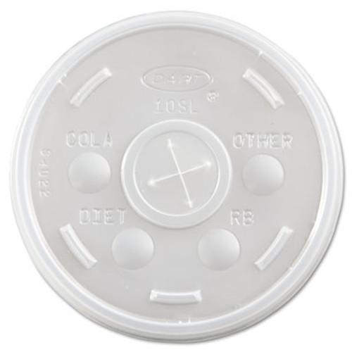 Dart Plastic Cold Cup Lids, Fits 10oz Cups, Translucent, 1000/Carton (DCC 10SL)