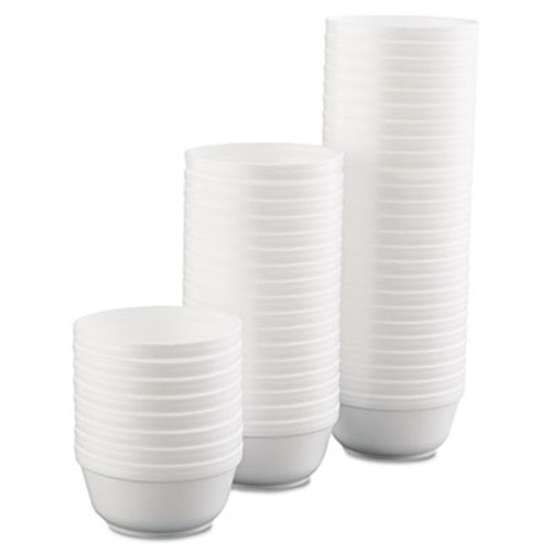 Dart Insulated Foam Bowls, 12oz, White, 50/Pack, 20 Packs/Carton (DCC 12B32)