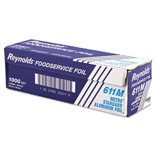 Reynolds Wrap Metro Aluminum Foil Roll  Lighter Gauge Standard  12  x 1000 ft  Silver (REY 611M)