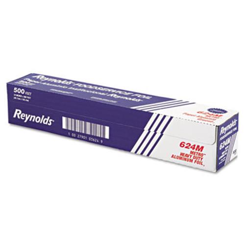 Reynolds Wrap Metro Aluminum Foil Roll  Light Gauge  18  x 500 ft  Silver (REY 624M)