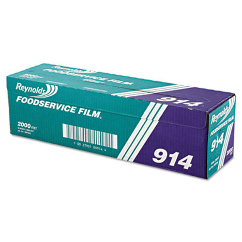 Reynolds Wrap PVC Film Roll with Cutter Box  18  x 2000 ft  Clear (REY 914)