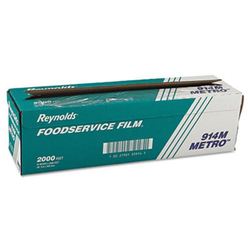 Reynolds Wrap Metro Light-Duty PVC Film Roll with Cutter Box  18  x 2000 ft  Clear (REY 914M)
