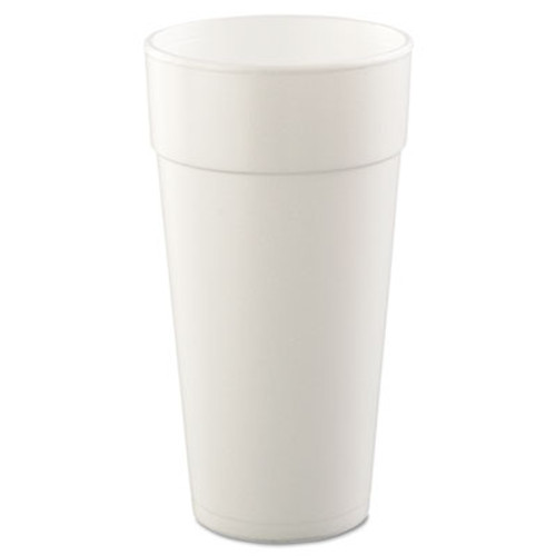 Dart Foam Drink Cups  Hot Cold  24oz  White  25 Bag  20 Bags Carton (DCC 24J16)