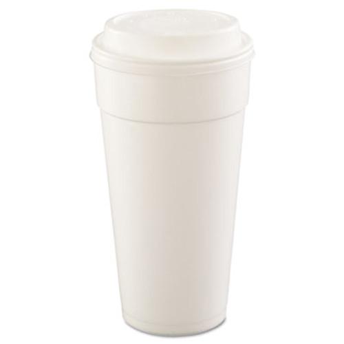 Dart Drink Foam Cups, Hot/Cold, 24oz, White, 25/Bag, 20 Bags/Carton (DCC 24J16)
