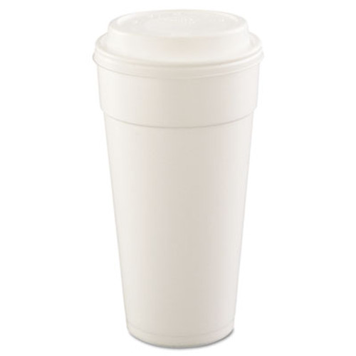 Dart Foam Drink Cups  Hot Cold  24oz  White  25 Bag  20 Bags Carton (DCC 24J16)