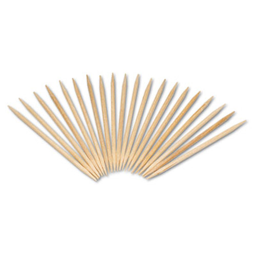 AmerCareRoyal Round Wood Toothpicks  2 1 2   Natural  24 Inner Boxes of 800  5 Boxes Carton  96 000 Toothpicks Carton (RPP R820)