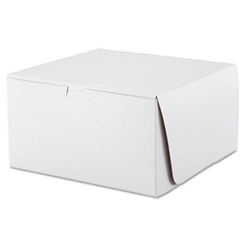 SCT Tuck-Top Bakery Boxes  10w x 10d x 5 1 2h  White  100 Carton (SCH 0977)