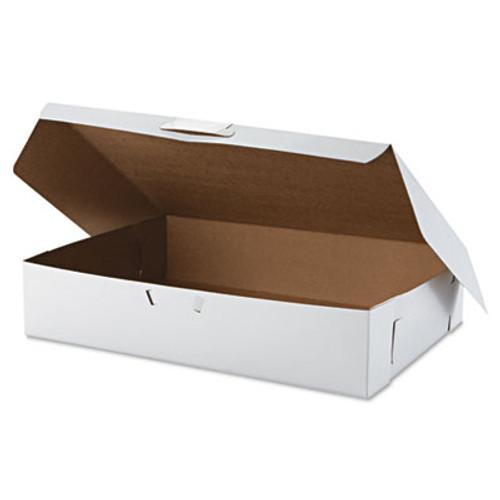 SCT Tuck-Top Bakery Boxes  19w x 14d x 4h  White  50 Carton (SCH 1029)