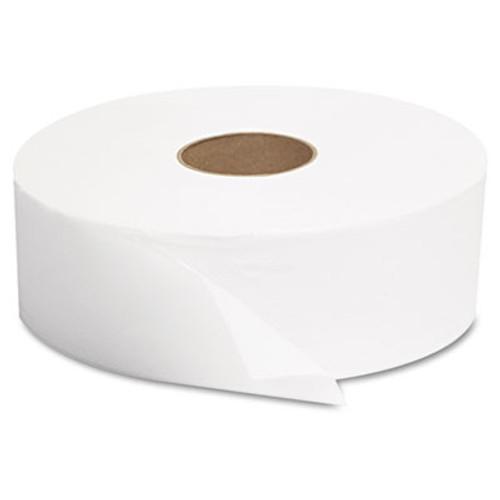"GEN JRT Jumbo Bath Tissue, 1-Ply, White, 12"" dia, 6 Rolls/Carton (GEN 1512)"