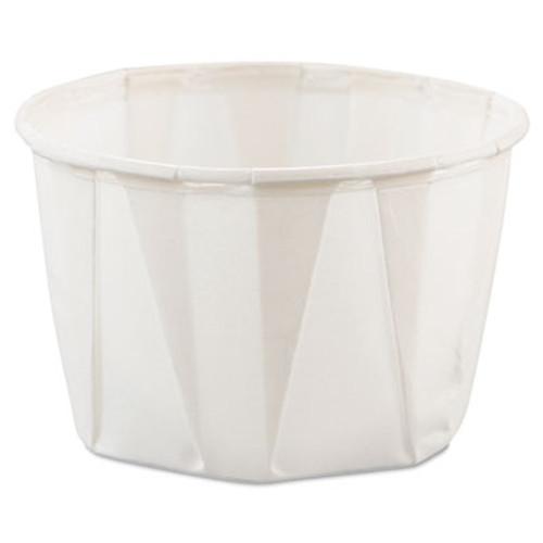 Dart Paper Portion Cups  2oz  White  250 Bag  20 Bags Carton (SCC 200)