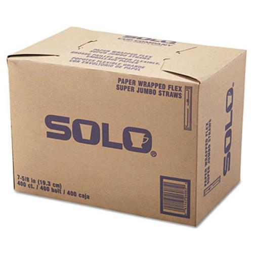 Dart Wrapped Super-Jumbo Flexible Straws  7 5 8   White  10000 Carton (SCC 875WX)