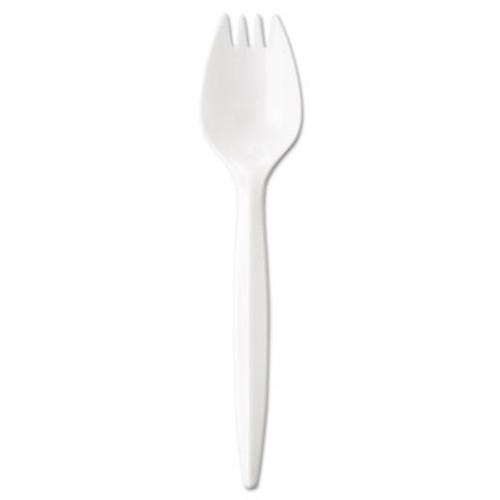 GEN Wrapped Cutlery  5 75  Spork  Mediumweight  Polypropylene  White  1 000 Carton (GEN MWSPK/IW)