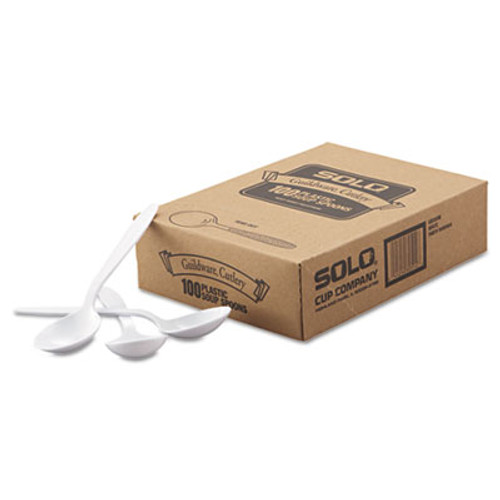 Dart Heavyweight Polystyrene Soup Spoons  Guildware Design  White  1000 Carton (SCC GBX8SW)