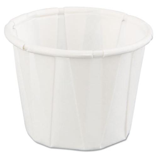 Genpak Squat Paper Portion Cup, .75oz, White, 250/Bag, 20 Bags/Carton (GNP F075)