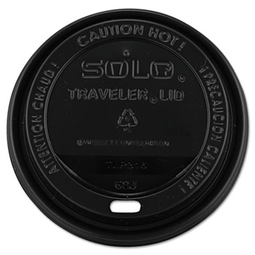 Dart Traveler Cappuccino Style Dome Lid  10-24oz Cups  Black  100 Sleeve  10 Sleeves Carton (SCC TLB316)
