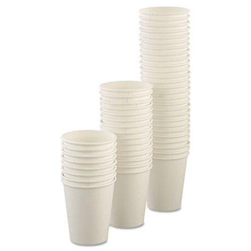 Dart Uncoated Paper Cups  Hot Drink  8oz  White  1000 Carton (SCC U508NU)