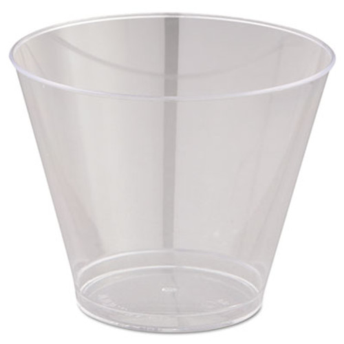 WNA Comet Smooth Wall Tumblers  9oz  Clear  Squat  25 Pack  20 Packs Carton (WNA T9S)