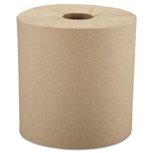 Windsoft Hardwound Roll Towels  8  x 800 ft  Natural  6 Rolls Carton (WIN 1280-6)