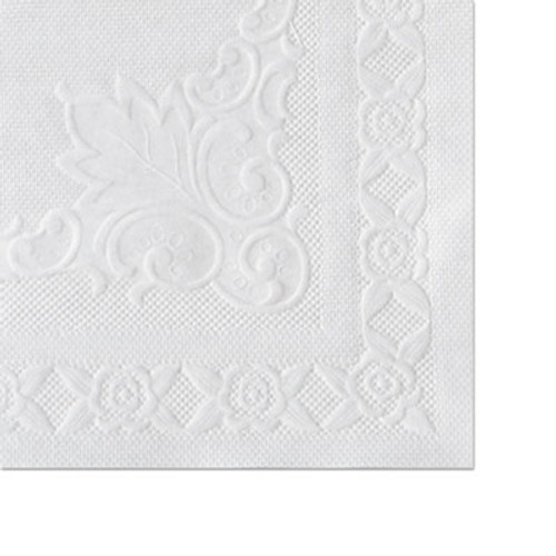 Hoffmaster Classic Embossed Straight Edge Placemats  10 x 14  White  1 000 Carton (HFM 601SE1014)
