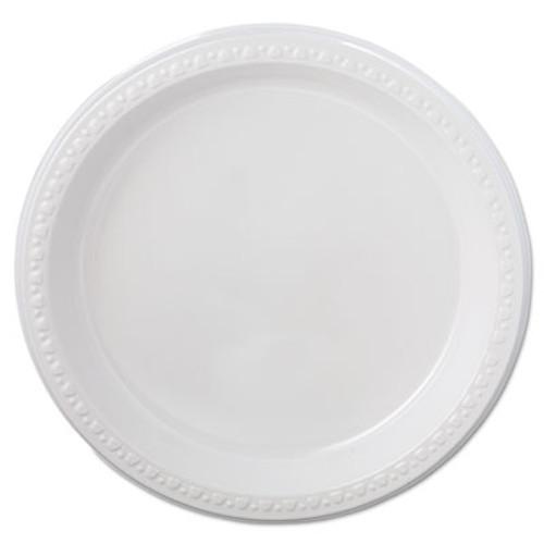 Chinet Heavyweight Plastic Plates  9  Diameter  White  125 Pack  4 Packs CT (HUH 81209)