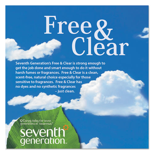 Seventh Generation Natural Liquid Fabric Softener  Free   Clear  42 Loads  32 oz Bottle  6 Carton (SEV 22833)