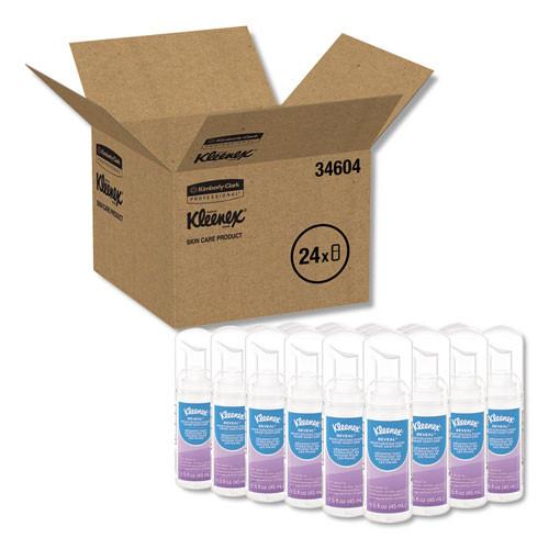 Kleenex Ultra Moisturizing Foam Hand Sanitizer  1 5 oz  Clear  24 Carton (KCC 34604)