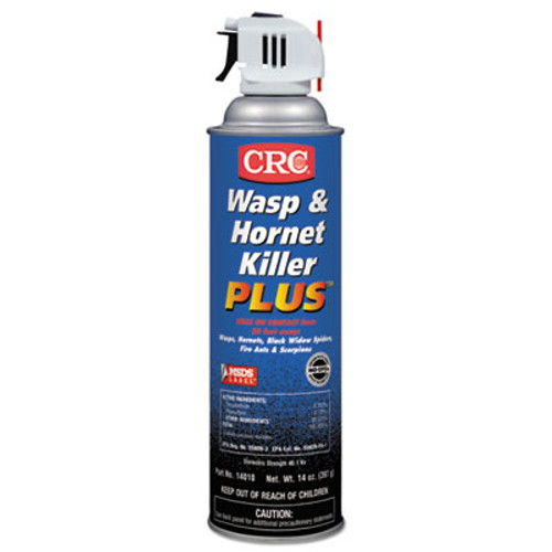 CRC Wasp & Hornet Killer Plus Insecticide, 20 oz Aerosol Can, 12/Carton (CRI 14010)