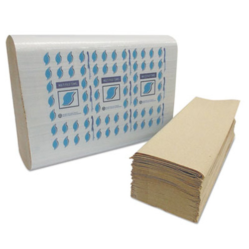 GEN Multi-Fold Paper Towels  1-Ply  Kraft  334 Towels Pack  12 Packs Carton (GEN MF4001K)