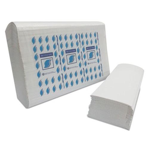 GEN Multi-Fold Paper Towels  1-Ply  White  334 Towels Pack  12 Packs Carton (GEN MF4000W)