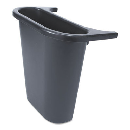 "Rubbermaid Commercial Saddle Basket Recycling Bin, Rectangular, Black, 7 1/4""W x 10 3/5""D x 11 1/2""H (RCP 2950-73 BLA)"