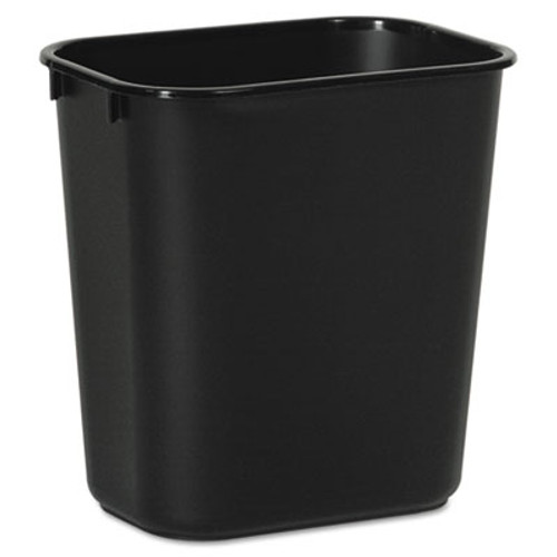 Boardwalk Soft-Sided Wastebasket  14 qt  Plastic  Black (UNS 14QTWB BLA)