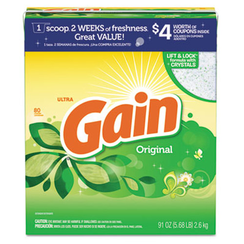 Gain Powdered Laundry Detergent, Original Scent, 91oz Box, 3/Carton (PGC 84910)