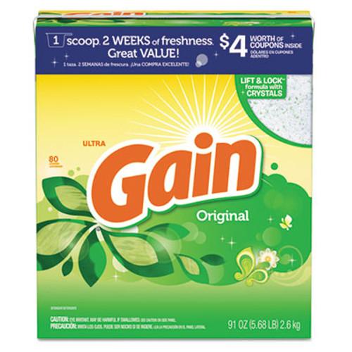 Gain Powdered Laundry Detergent  Original Scent  91oz Box  3 Carton (PGC 84910)